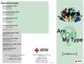 AB blood type tri-fold brochure - outside
