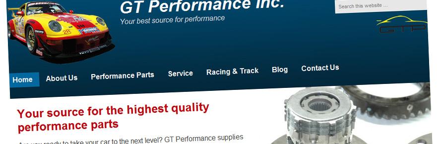 GT Performance website redesign